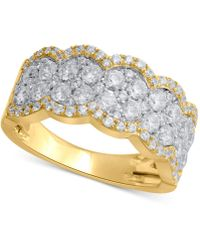 Macy's - Certified Diamond Scalloped Anniversary Band (1-1/2 Ct. T.w.) In 14k Gold - Lyst