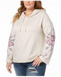 INC International Concepts - Plus Size Embroidered Hoodie Sweatshirt - Lyst