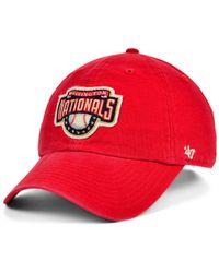47 Brand - Washington Nationals Mclean Coop Clean Up Cap - Lyst