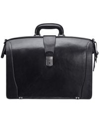 Mancini Vanizia Collection Luxurious Laptop Compatible Litigator Briefcase - Black