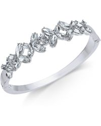 Charter Club - Silver-tone Crystal Bangle Bracelet, Created For Macy's - Lyst