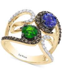 Le Vian - Chocolatier Neo Geo Multi-gemstone (1-3/8 Ct. T.w.) And Diamond (5/8 Ct. T.w.) Swirl Ring In 14k Gold, Only At Macy's - Lyst
