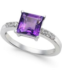 Macy's - Amethyst (1-3/4 Ct. T.w.) & Diamond Accent Ring In 14k White Gold - Lyst
