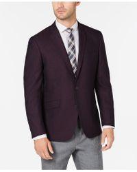 Kenneth Cole Reaction Slim-fit Burgundy Shimmer Sport Coat, Online Only - Purple