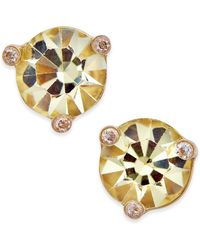 Kate Spade - Rise And Shine Gold-tone Crystal Stud Earrings - Lyst