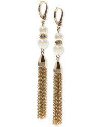 Ivanka Trump | Gold-tone Imitation Pearl Tassel Drop Earrings | Lyst