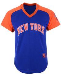 4af3b919 Mitchell & Ness - New York Knicks Final Seconds Mesh V-neck Jersey - Lyst