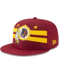 new product 2c9a5 97a9e KTZ - Washington Redskins 2019 Draft 59fifty Fitted Cap - Lyst