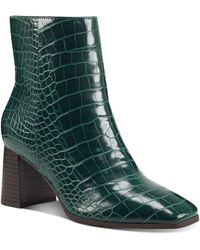 INC International Concepts Dasha Block-heel Booties, Created For Macy's - Green