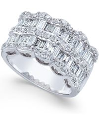 Macy's - Multi-row Diamond Ring In 14k White Gold (1 Ct. T.w.) - Lyst