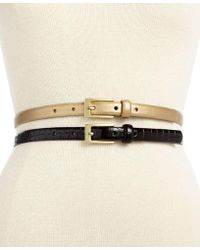 Style & Co. - 2-for-1 Croco Patent Belts, Only At Macy's - Lyst