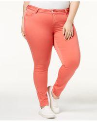 Celebrity Pink - Trendy Plus Size Jayden Colored Skinny Jeans - Lyst