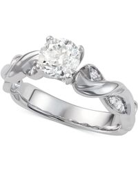 Macy's - Diamond Twist Engagement Ring (1-1/10 Ct. T.w.) In 14k White Gold - Lyst