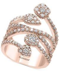 Effy Collection - Diamond Vine Statement Ring (1-3/8 Ct. T.w.) In 14k Rose Gold - Lyst