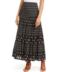 Style & Co. - Printed Tiered Skirt, Created For Macy's - Lyst