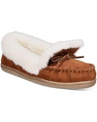 Charter Club Dorenda Moccasin Slippers, Created For Macy's - Brown