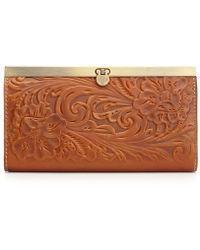 Patricia Nash Cauchy Tooled Leather Wallet - Brown