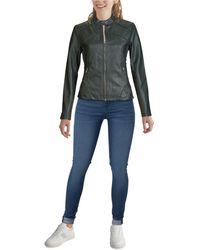 Guess Faux-leather Moto Jacket - Black