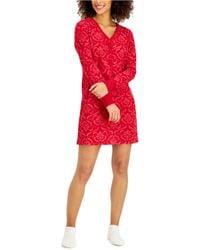 Charter Club Sleepshirt & Socks 2pc Set, Created For Macy's - Red