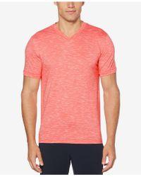 Perry Ellis - Heathered V-neck T-shirt - Lyst