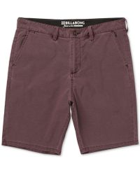 Billabong - New Order X Overdye Shorts - Lyst