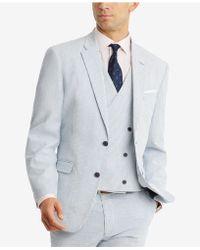 Tommy Hilfiger - Modern-fit Thflex Stretch Blue/white Stripe Seersucker Suit Jacket - Lyst