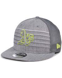 KTZ - Oakland Athletics Cyber Gray Trucker 9fifty Cap - Lyst