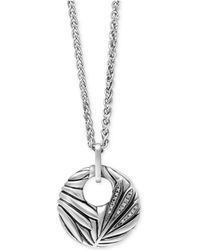 Effy Collection - Diamond Accent Pendant Necklace In Sterling Silver - Lyst