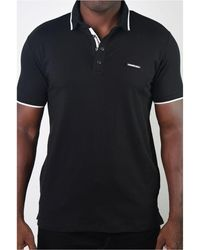 Members Only Basic Short Sleeve Snap Button Polo - Black