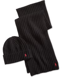Polo Ralph Lauren - Classic Ribbed Hat & Glove Gift Set - Lyst