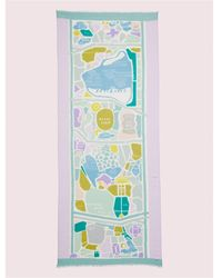 Kate Spade Central Park Map Oblong Scarf - Green
