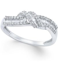 Macy's - Diamond Knot Ring (1/4 Ct. T.w.) In Sterling Silver - Lyst