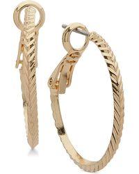 Anne Klein - Diamond-cut Hoop Earrings - Lyst