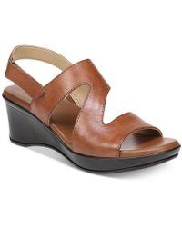 Naturalizer Valerie Wedge Sandals - Brown