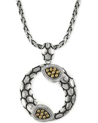 Effy Collection - Effy Diamond Scale Pendant Necklace (1/5 Ct. T.w.) In 18k Gold And Sterling Silver - Lyst