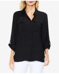 Vince Camuto Utility Shirt - Black