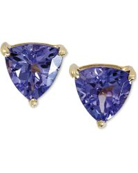 Effy Collection | Tanzanite Stud Earrings In 14k Gold (1 Ct. T.w.) | Lyst