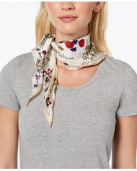 Vince Camuto - You're The Bees Knees Silk Bandana Diamond Scarf - Lyst