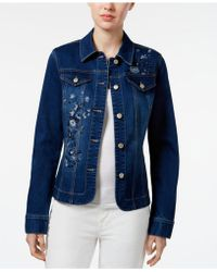Charter Club - Embroidered Denim Jacket - Lyst