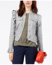 INC International Concepts | Ruffled Linen Jacket, Created For Macy's | Lyst