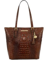 Brahmin Asher Melbourne Embossed Leather Tote - Brown