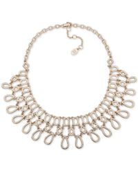 "Ivanka Trump - Gold-tone Openwork Statement Necklace, 16"" + 3"" Extender - Lyst"