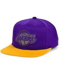 Mitchell & Ness Los Angeles Lakers 2 Team Reflective Snapback Cap - Purple