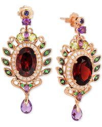 Le Vian - Oval-cut Garnet (10 Ct. T.w.) And Multistone (3-5/8 Ct. T.w.) Drop Earrings In 14k Rose Gold - Lyst