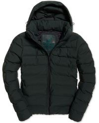 Superdry - Echo Quilted Puffer Coat - Lyst