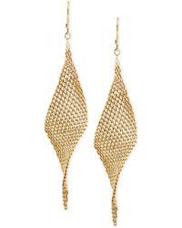 Kenneth Cole - Mesh Twist Drop Earrings - Lyst