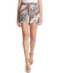 Jessica Simpson Shira Belted Shorts - Multicolour
