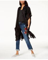 Steve Madden Button-up Shirt & Cover-up - Black