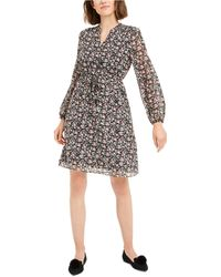 Maison Jules Printed Clip-dot Dress, Created For Macy's - Black