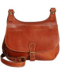 ef7cfd00b63f Patricia Nash - Heritage London Smooth Leather Crossbody Saddle Bag - Lyst